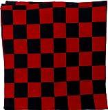 Chiffon Nicki Chiffon Carreaux Noir Rouge Punk Rock Accessoire Déguisement Costume Bandana Foulard Bandana zantana 54cm (Noir) 4974