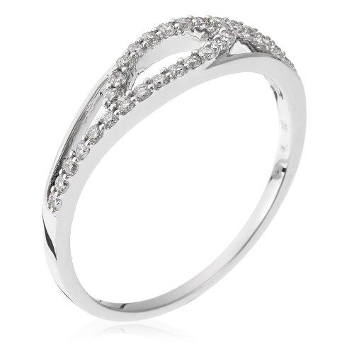 Orphelia Women's Ring 18–Carat 750 Gold with Diamond 0,24 Carat 3234–RD white