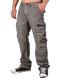 JET LAG Herrenhose mit großen Seitentaschen in grau