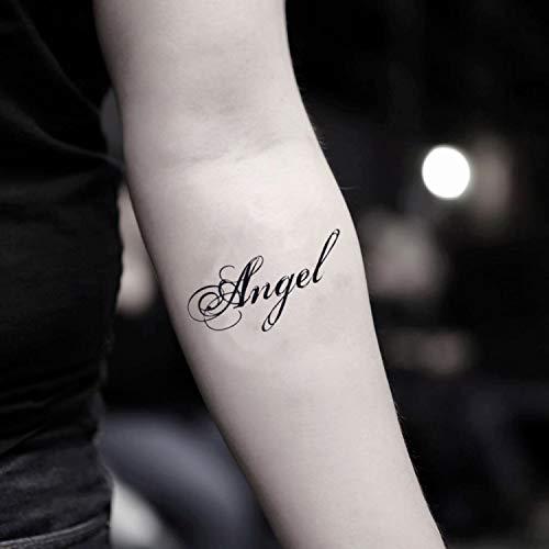 Tatuaggio temporaneo angel name (2 pezzi) - www.ohmytat.com