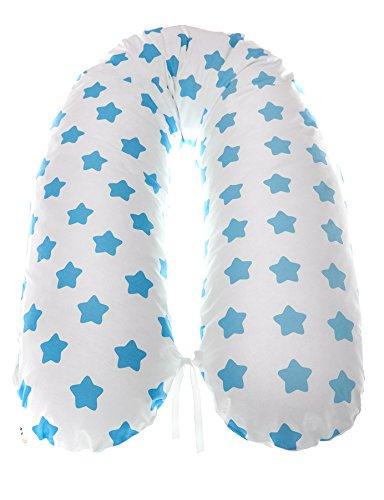 Lagerungskissen in Weiß mit blauen Sternen