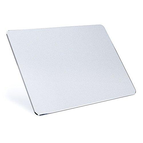 XINGDDOZ Gaming Aluminium mouse pad Mausunterlage mit Anti-Skid Gummiunterseite Rutschfest (220*180*2.8mm)(Silber)
