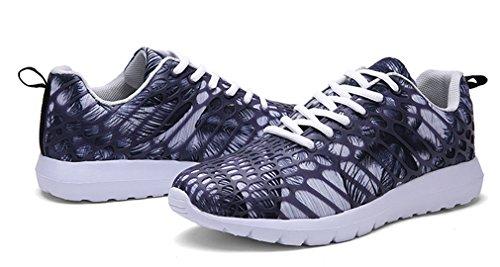 NEWZCERS Unisexe jolie mode chaussures de sport courir des espadrilles Gris