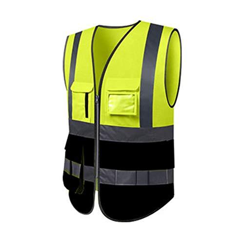Reflektierende Weste - Fluoreszierende Weste Hygiene Arbeiter Kleidung Verkehr Fluoreszierende Klage Gelbe Weste Reiten Reflektierende Kleidung Männer (mehrfarbige Wahl) (Farbe : D, größe : M)