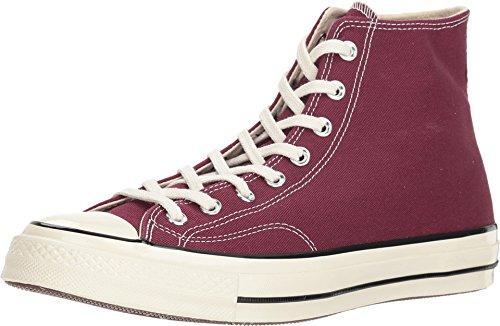 Converse Unisex-Erwachsene Taylor Chuck 70 Hi Sneakers Mehrfarbig (Dark Burgundy/Black/Egret 613) 39.5 EU -