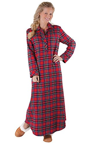 2c3aa3679d PajamaGram Women s Flannel Nightgown Plaid - Nightgown Womens
