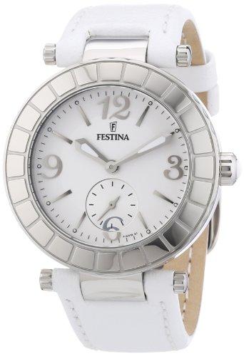 Festina Trend Analog Quarz Damen Uhr Weiß F16619/1