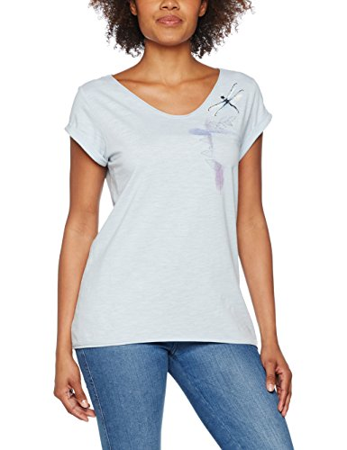 ESPRIT Damen T-Shirt Blau (Pastel Blue 435)