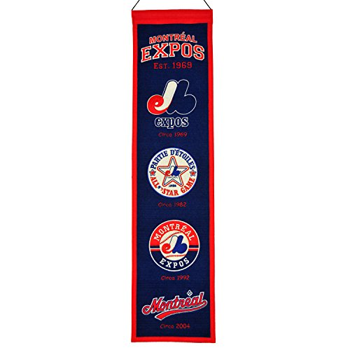 MLB Baseball Banner Wimpel Pennant MONTREAL EXPOS heritage Wool Blend