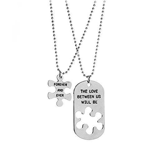 Skyeye Necklace, (set and sold), letter mosaic couple necklace