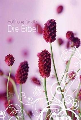 Hoffnung für alle - Die Bibel: Flower Edition 1, pink