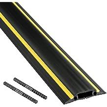 D-Line Passe Câble Sol Souple |FC83H| Passage Plancher Souple | Goulotte de Sol |  Prévient les Accidents au Travail | Liégeable | Cavité du Câble 30x10mm,  Longeur 1,8m
