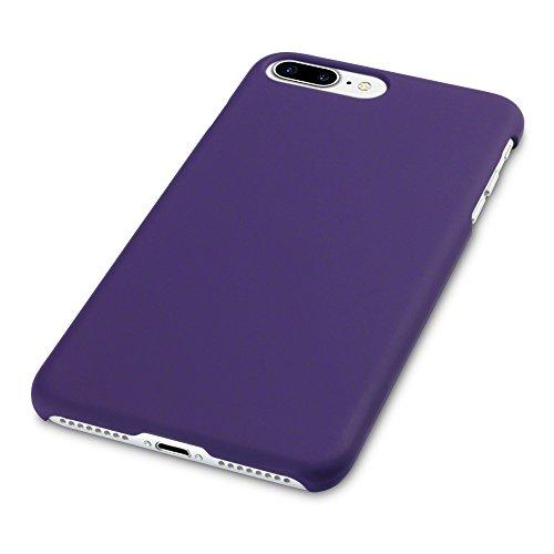 iPhone 8 Plus / iPhone 7 Plus Cover, Terrapin Cover di Gomma Rigida per iPhone 8 Plus Custodia, Colore: Nero Porpora