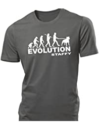 iClobber Evolution of Staffy Men's T Shirt tshirt staffordshire bull terrier staffie puppies