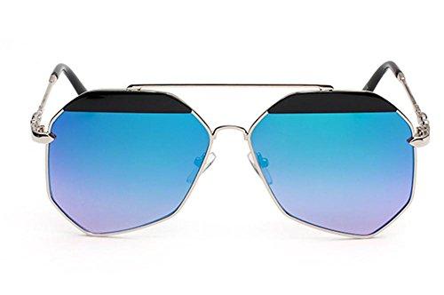 DZW Trimming Klassische Sonnenbrille High Definition Männer und Frauen Frog Mirror Eyes, 1