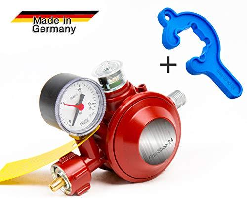 50 mbar Haushaltsregler Gasregler Regler Druckminderer - Anschluss für Gas-Herd, Gaskocher Gasschlauch (DIN DVGW)