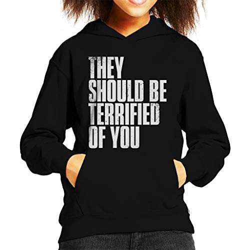 Cloud City 7 The Last of Us II They Should Be Terrified of You Kid's Hooded Sweatshirt (Us The Last Of Clicker)