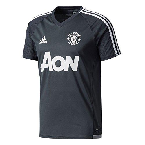 adidas MUFC TRG JSY Manchester United FC, Maglietta da Calcio Uomo, Grigio (Grinoc/Bianco), S