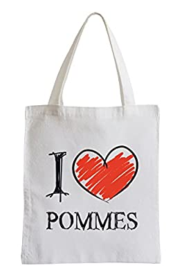 I love frites Fun sac de jute