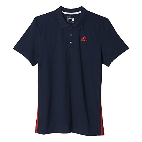 Adidas Ess Mid Polo  per Uomo Blu/Rosso (Maruni/Rojint)
