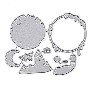 huyiko Weihnachtsmann Metall Cutting Dies Stencil DIY Scrapbooking Album Stempel Karte Papier