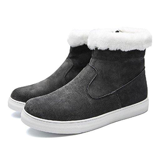 Uomo Inverno Scarpe di cotone Plus cashmere Tenere caldo Scarpe casual Confortevole Ballerine All'aperto Scarpe da diporto euro DIMENSIONE 39-44 gray