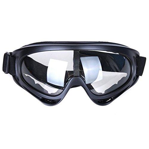 Lifeyz Brillen winddicht UV400 Motorrad Radfahren Schneemobil Skibrille Eyewear Schutz Sicherheit Skibrillen (klar)