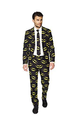 OppoSuits Batman Anzug für Herren besteht aus Sakko, Hose und Krawatte - EU48