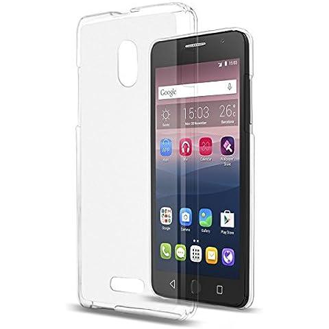 TPU Silicona Funda Protective Case blanco para Alcatel One Touch Pop Star 3G (5022D)