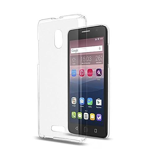 Silicone TPU Housse étui coque blanc pour Alcatel One Touch Pop Star 3G (5022D)