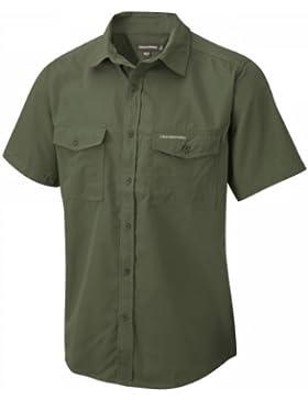Craghoppers Kiwi Camicia a Maniche Corte da Uomo, Verde (Cedar), EU: 58 (Taglia Produttore: 2XL)