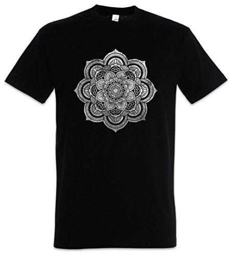 Urban Backwoods Flower Mandala II T-Shirt – Yantra Hinduism Buddhism Buddhismus Hinduismus Hindu Shiva Buddha Dharma Govinda Indien India Om Größen S – 5XL