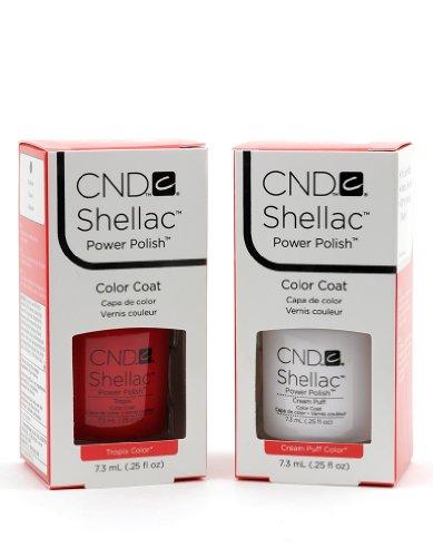 [sehr viel.] CND Shellac Gel Nail Color Tropix und Cream Puff Set -