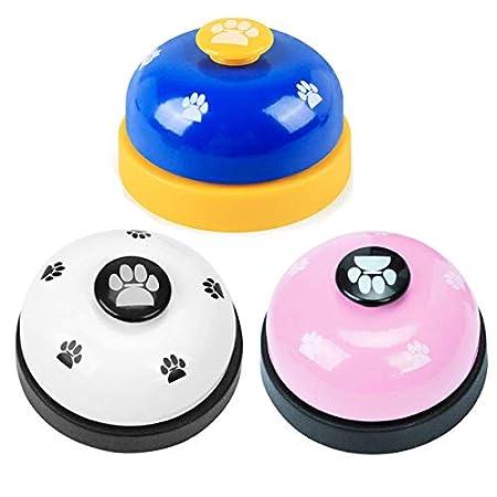 Haustier Trainingsglocke,Mengger Hunde Türklingeln Training Bell klingel Pet Glocken Töpfchen Tischglocke für Katzen…