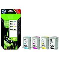 HP C2N93AE Combo Pacco da 4 Cartucce 940XL, Colori Nero/Ciano/Magenta/Giallo