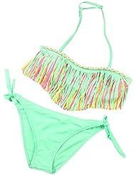 Saingace® 1Réglez Bébés filles Été Maillots de bain Tassel enfants de Split Nylon Maillot de bain Bikini Set