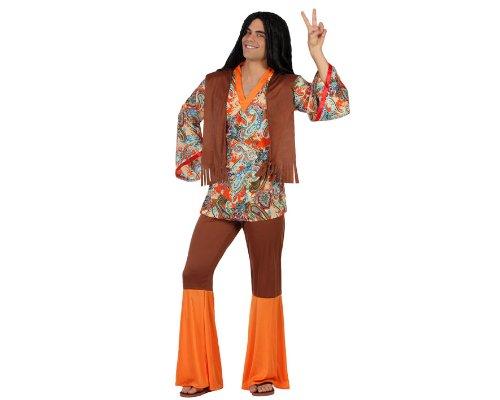 ATOSA 22867 - Hippie männliches Kostüm, Größe XS-S, braun/bunt (Hippie Kostüm Männlich)