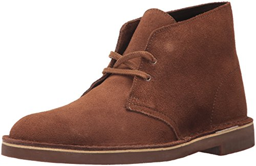 Clarks Men's Bushacre2 Smu Chukka Boot, Walnut Suede, 8.5 M US