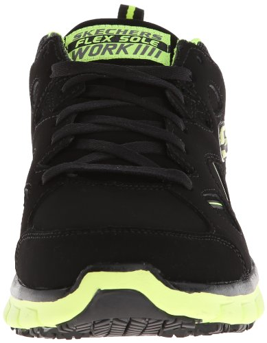 Skechers For Work 76994 Slip Synergy-tal travail résistant chaussures Black/Lime