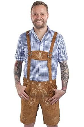 Men s traditional German Lederhosen - Bavarian leather trousers ... 9f263cb74