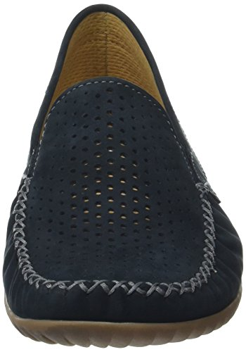 Gabor Shoes Comfort, Mocassins Femme Bleu (nightblue S.natur)