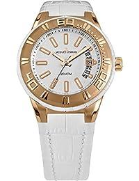 Jacques Lemans Damen Armbanduhr Multi Zifferblatt Quarz Leder 1-1771H