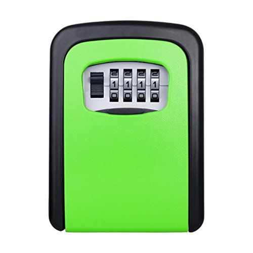 Outdoor Metall Passwort Vorhängeschloss Schlüssel Box, mamum 4Digit Passwort Schlüsselkasten Sicherheit Verstecktes Schloss Fall Wand montiert Vorhängeschloss Realtor Einheitsgröße e