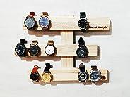 Organizador de relojes de madera de pino personalizado