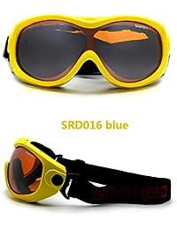 Urben Life Gafas para Esquiar con 100 De Protección UV, Resistencia Al Viento, Lentes Antirreflejo para Snowboard Montañismo A Prueba De Equipos para Exteriores para Niños, Niñas, Niños