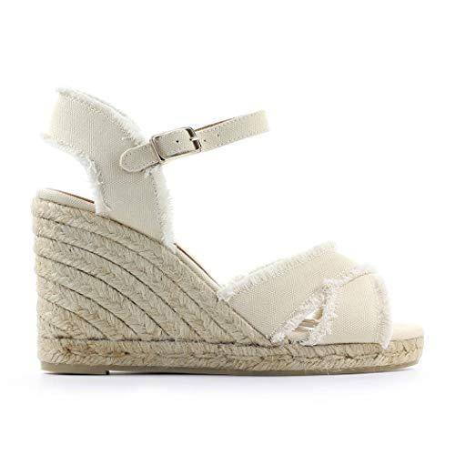 Zapatos de Mujer Alpargatas Bromelia Blanca con Cuña Castañer SS 2020