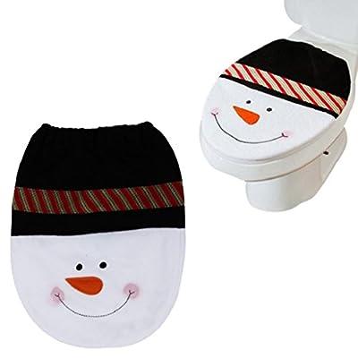 Vovotrade 2016 Christmas Hot Sale!!!Snowman Toilet Seat Cover Christmas Decoration