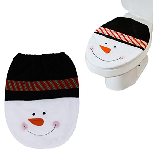 Vovotrade® Vovotrade 2016 Christmas Hot Sale!!!Snowman Toilet Seat Cover Christmas Decoration