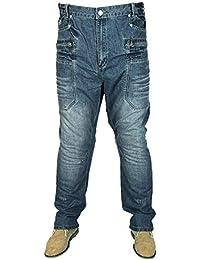 5e126aed Kam MENS BIG SIZE MCCARTHY JEANS STRAIGHT LEG BLUE VINTAGE COLOUR SIZES 40