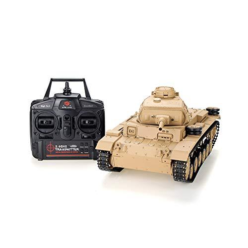 Tanque de control remoto, 2.4 G tanque de juguete 1:16 de escala completa de vehículos blindados de control remoto, 320 ° rotación de la torreta puede lanzar el tanque de simulación de proyectiles